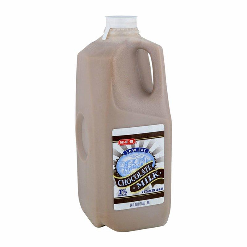 H-E-B Low Fat 1% Milkfat Strawberry Milk