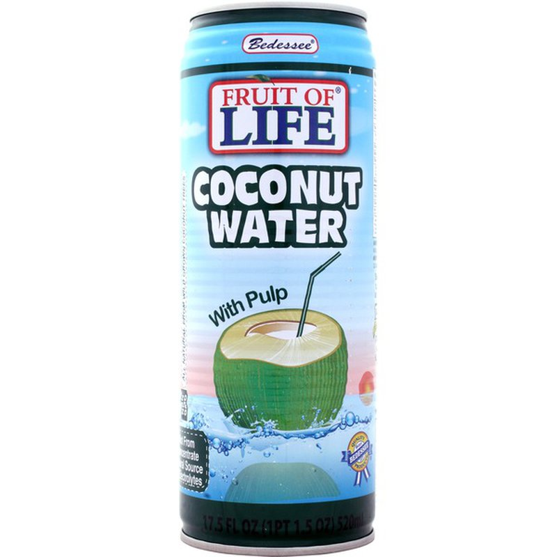 Bedessee Fruit Of Life Coconut Water With Pulp