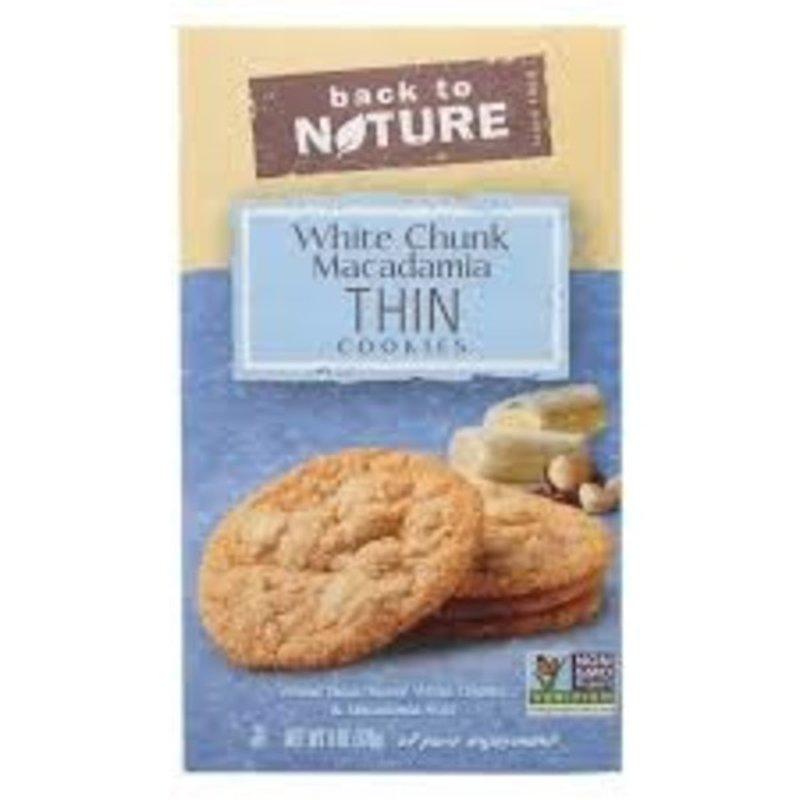 Back to Nature White Chunk Macadamia Thin Cookies