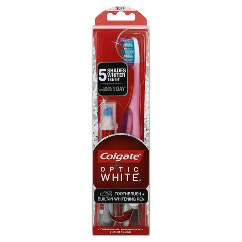 Colgate Optic White Toothbrush Built In Whitening Pen Soft 2