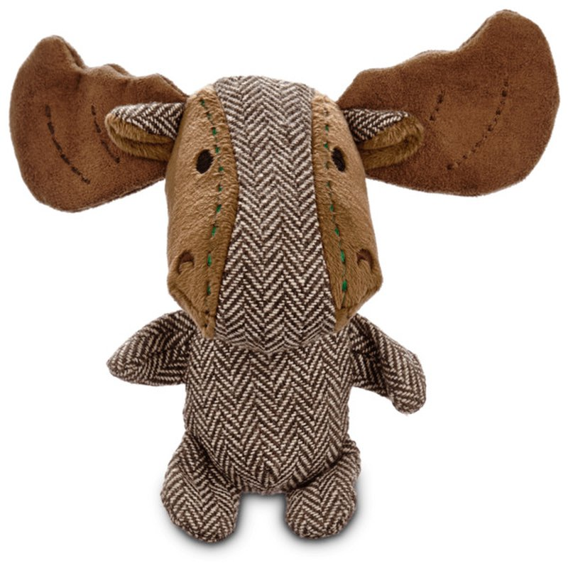 Small U. Holiday Herringbone Moose Antler Dog Toy