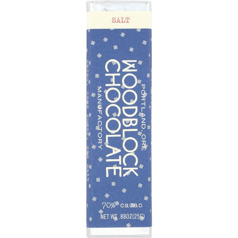 Woodblock Chocolate Salt & Nibs Chocolate Bar