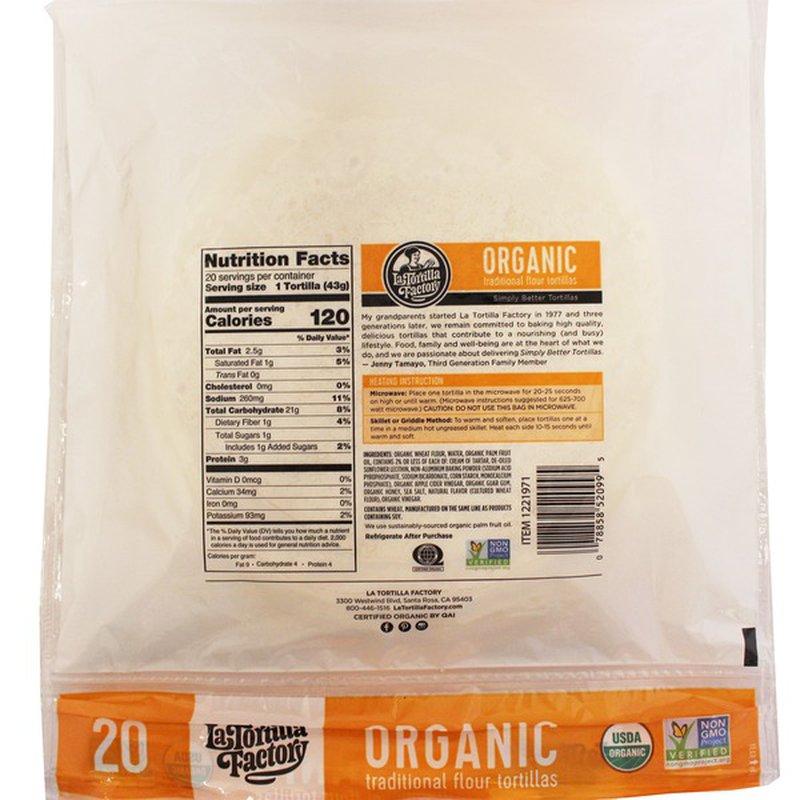 La Tortilla Organic Flour Tortilla, 20 ct