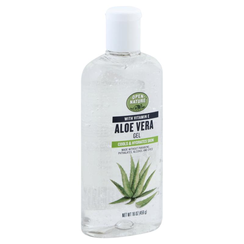 Open Nature Aloe Vera With Vitamin E Cools & Hydrates Skin Gel