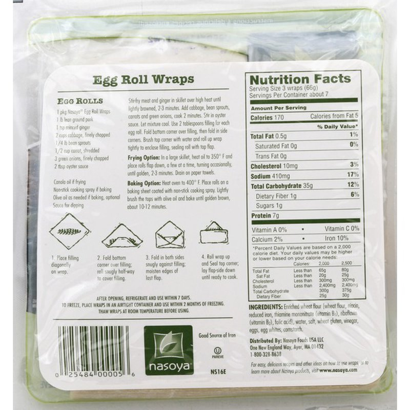 nasoya egg roll wraps 16 oz from stop  shop  instacart