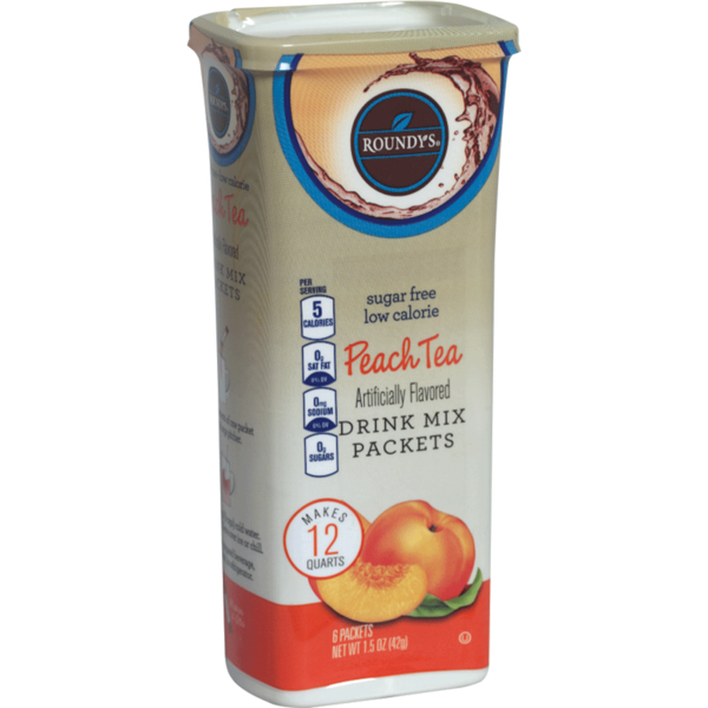 Roundy's Sugar Free Low Calorie Peach Tea