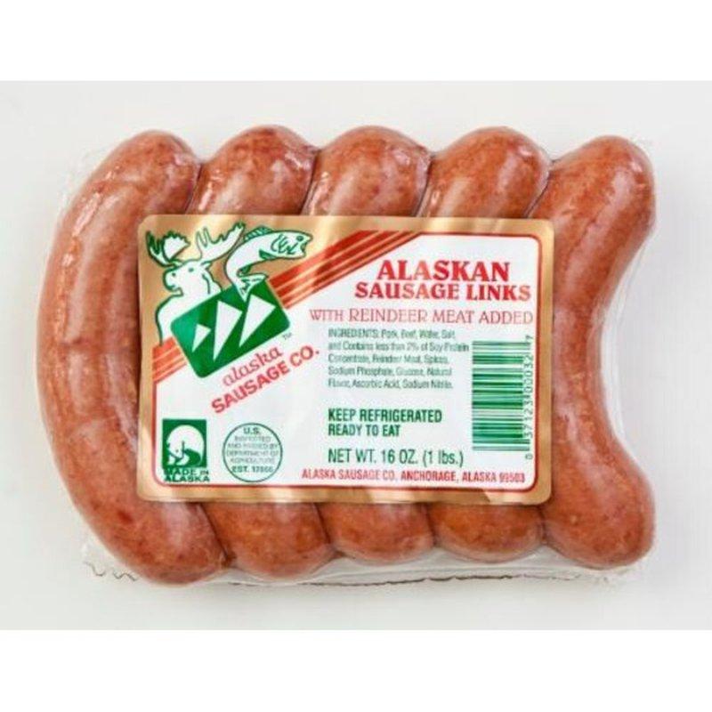 Alaska Sausage & Seafood Alaskan Sausage Links With Reindeer Meat