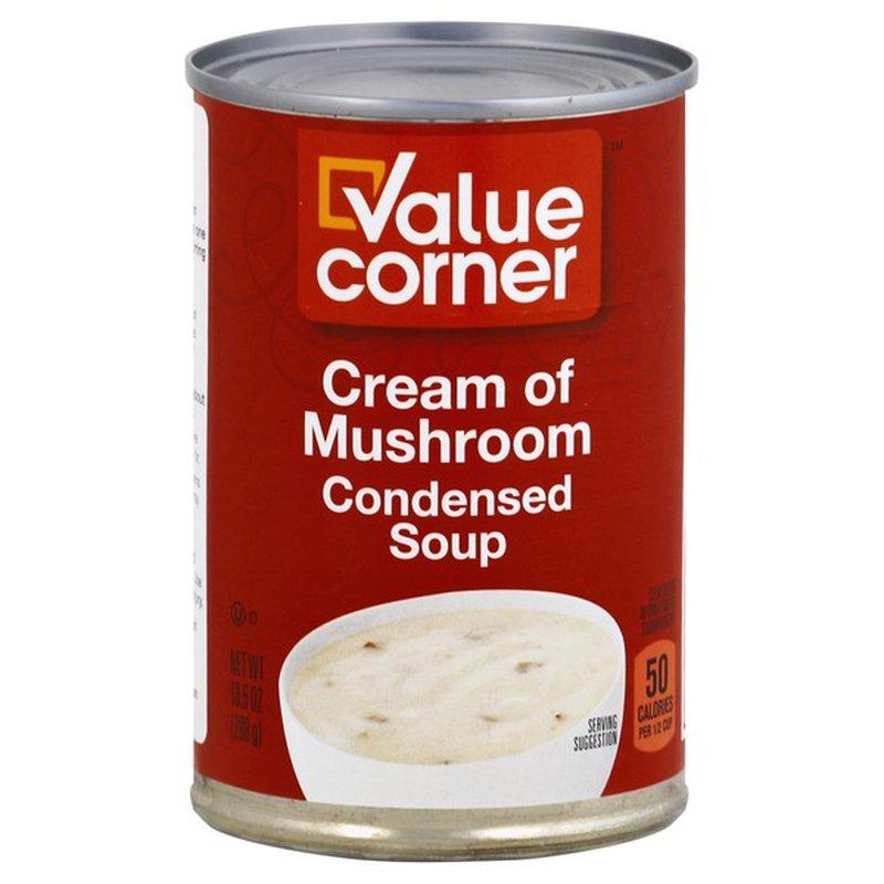Value Corner Condensed Soup, Cream of Mushroom