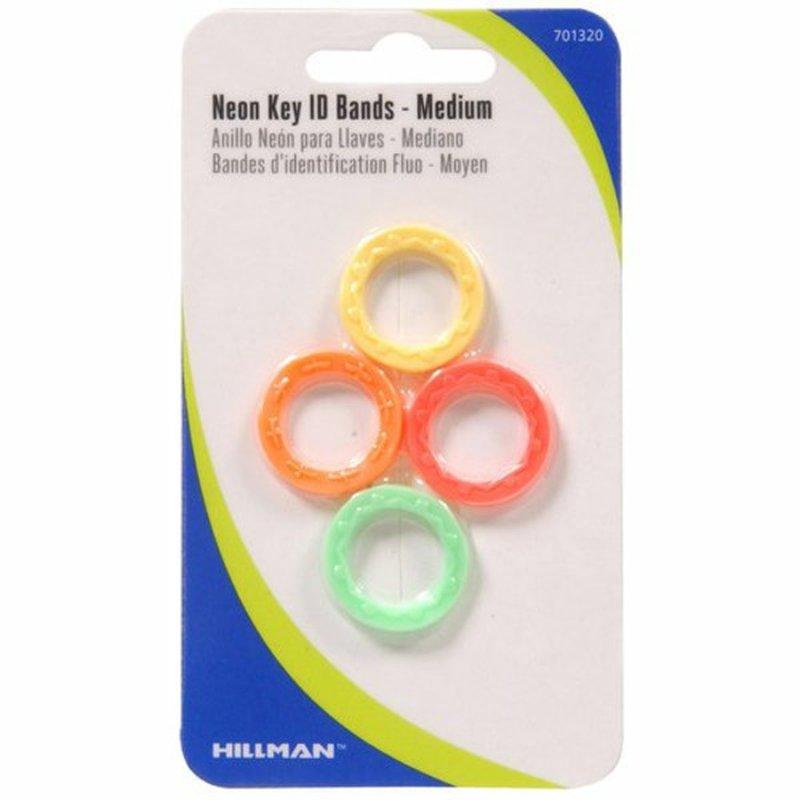 Hillman Group Neon Key ID Bands Medium