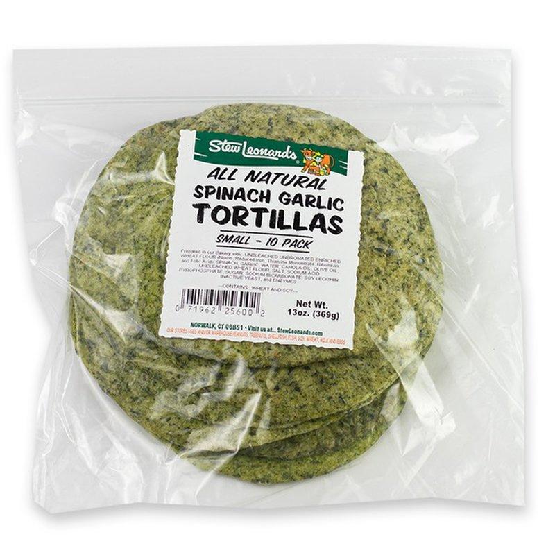 "7"" Spinach Garlic Tortillas"
