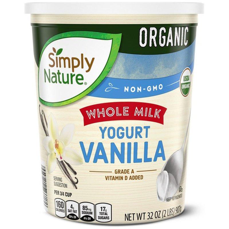 Simply Nature Organic Whole Milk Vanilla Yogurt
