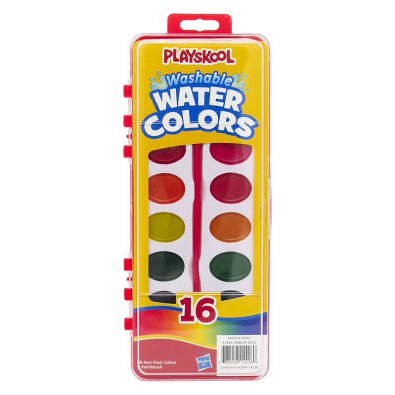 Playskool Assorted Colors Watercolor Paint Set With Brush