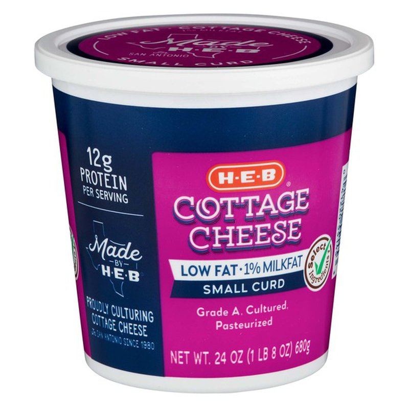 H-E-B Low Fat 1% Milkfat Cottage Cheese