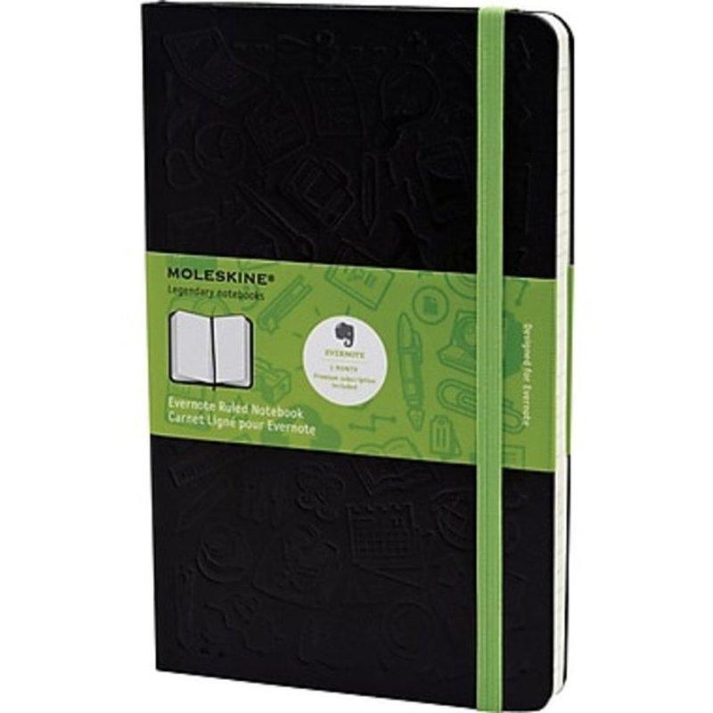 "Moleskine 5"" x 8-1/4"" Evernote Large Ruled Smart Notebook"