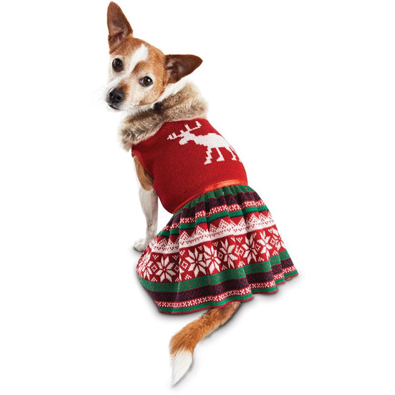 Extra Large Holiday Moose Fairisle Dresss