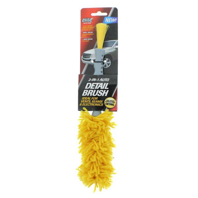 Elite Auto Care 2-In-1 Auto Detail Brush