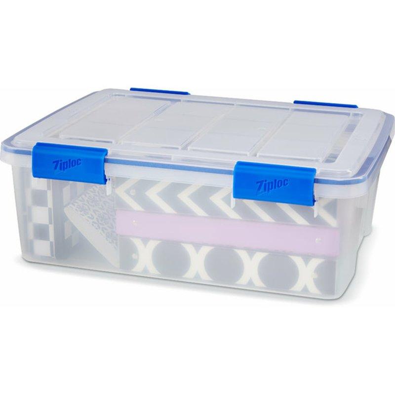 Ziploc 26.5 Quart Cleat Weather Tight Storage Box