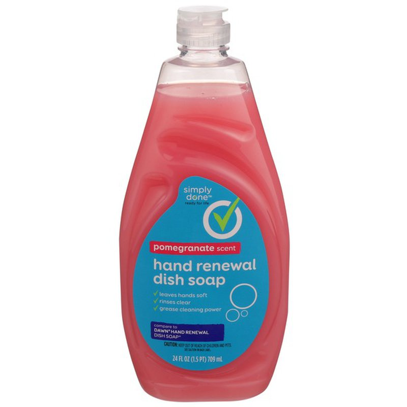 Simply Done Hand Renewal Dish Soap, Pomegranate Scent (24 ...