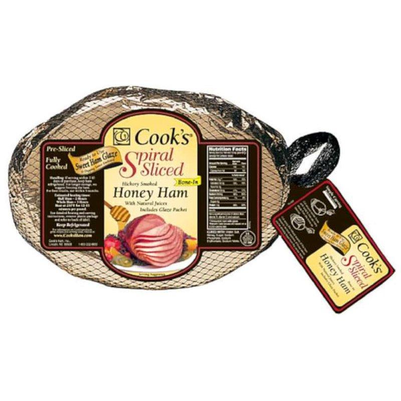 Cooked Honey Cured Spiral Sliced Ham