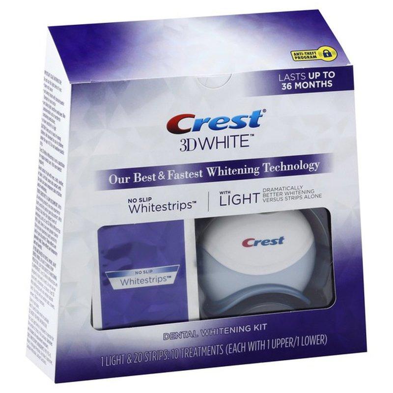 Crest 3d White Whitestrips With Light Teeth Whitening Kit 20 Each