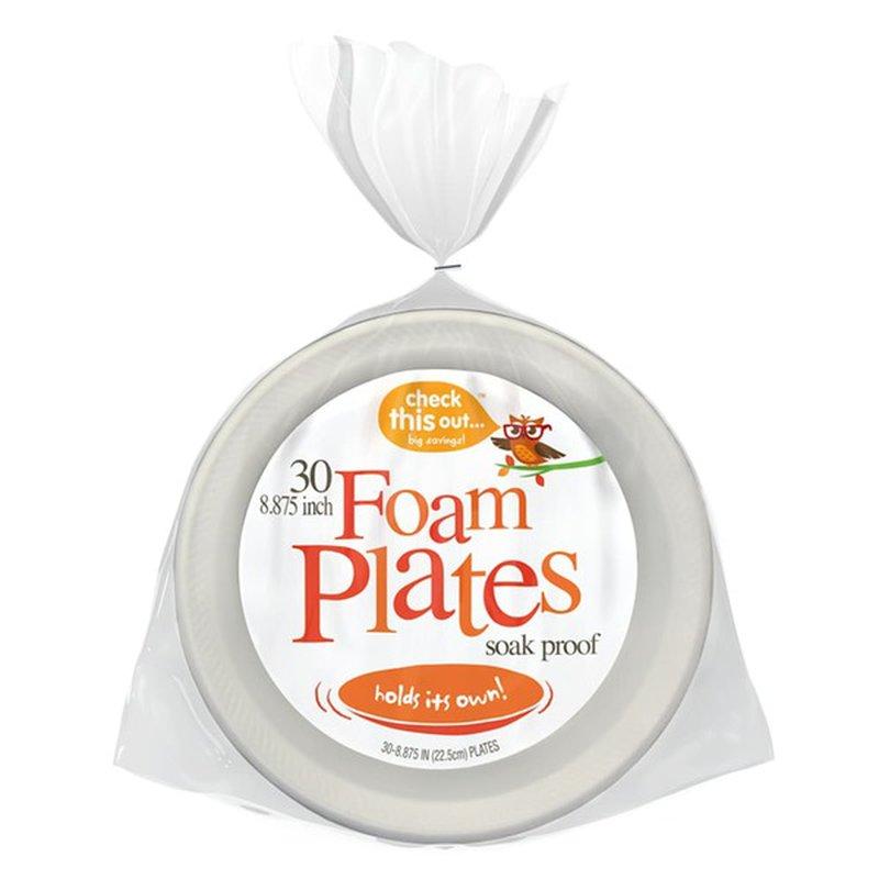"""Kroger 8.875"""" Soak Proof Foam Plates"""