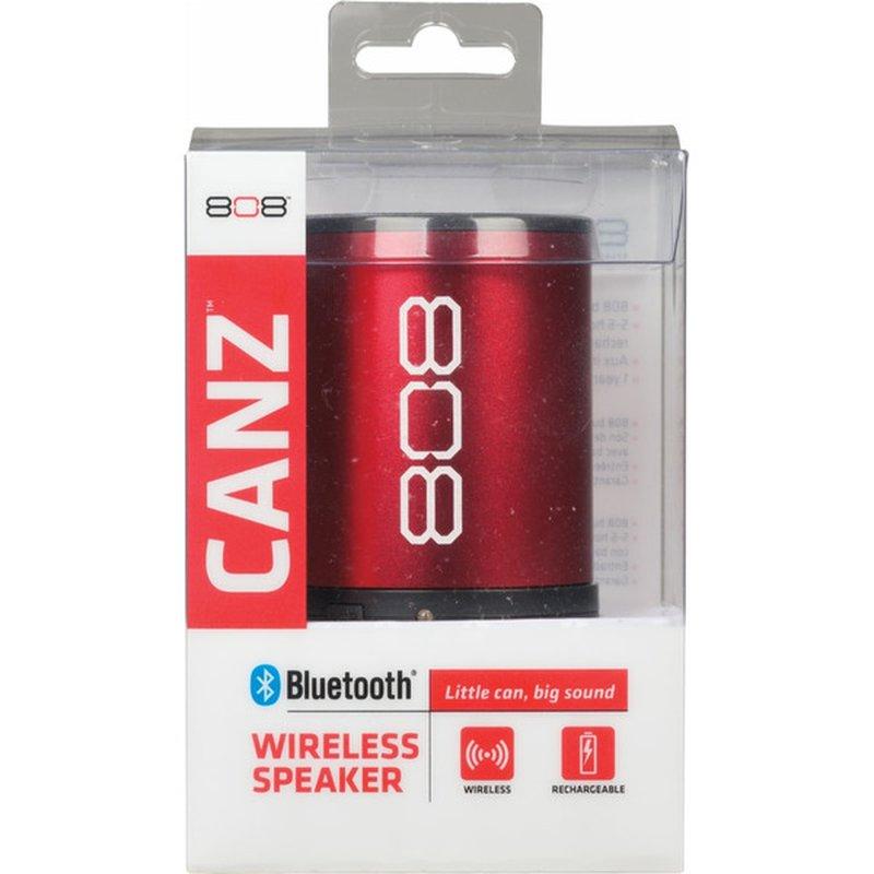 808 Canz Red Wireless Bluetooth Speaker