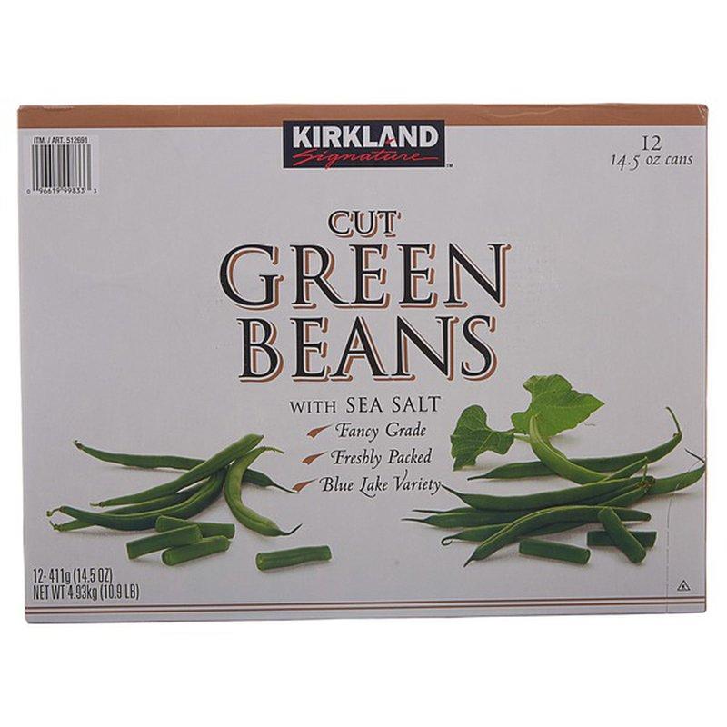 Kirkland Signature Cut Green Beans, 12 x 14.5 oz