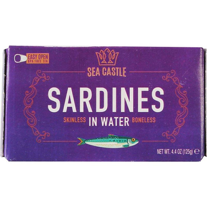 Sea Castle Skinless/Boneless Sardines In Water