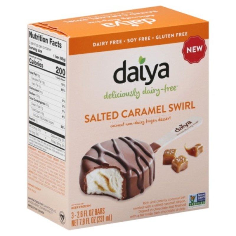 Daiya Salted Caramel Swirl Dipped Bars