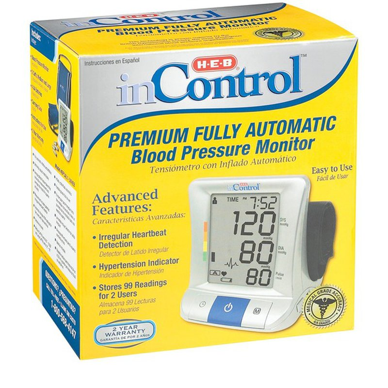 H-E-B InControl Premium Fully Automatic Blood Pressure Monitor