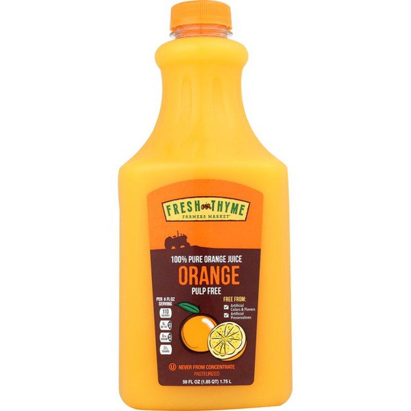 Fresh Thyme NFC Orange Juice