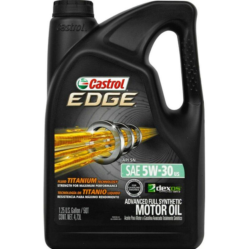Castrol EDGE SAE 5W-30 Advanced Full Synthetic Motor Oil