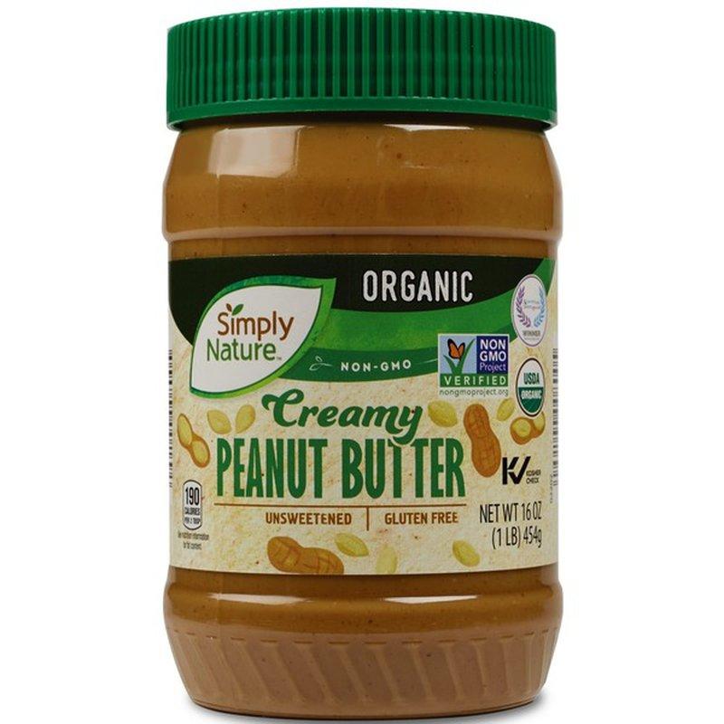 Simply Nature Organic Creamy Peanut Butter