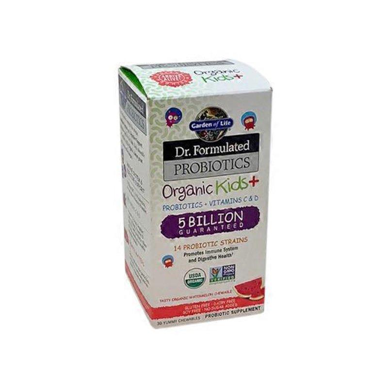 Garden Of Life Dr Formulated Organic Kids Probiotics Vitamins C D 5 Billion Guaranteed Probiotic Supplement Chewables Watermelon 30 Ct From Publix Instacart