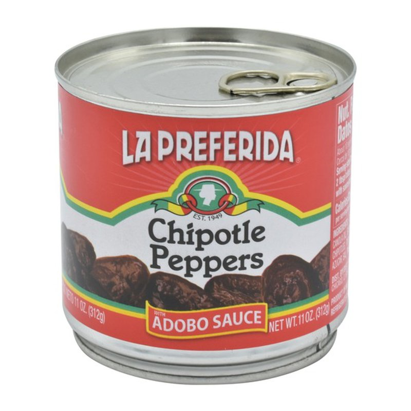 La Preferida Chipotle Peppers, Whole, in Spicy Adobo Sauce