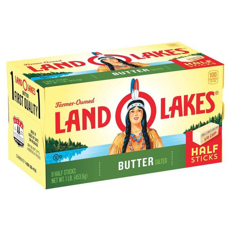 Land O' Lakes Sweet Cream Salted Butter, Half Sticks (1 lb ...