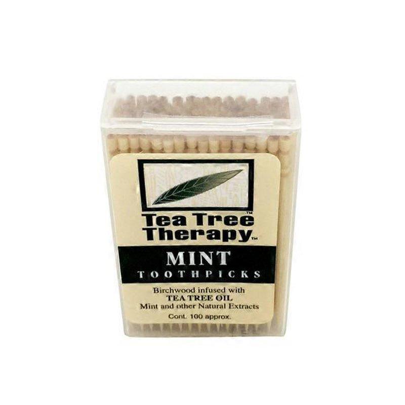 Tea Tree Therapy Toothpicks, Mint