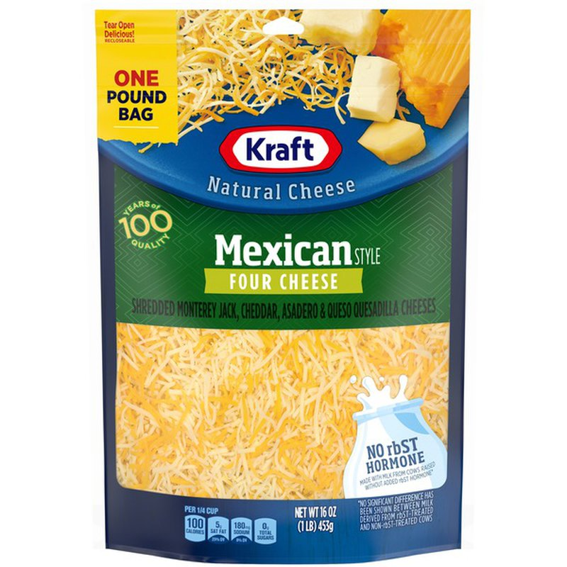 Kraft Mexican Style Four Chese Finely Shredded Natural Cheese