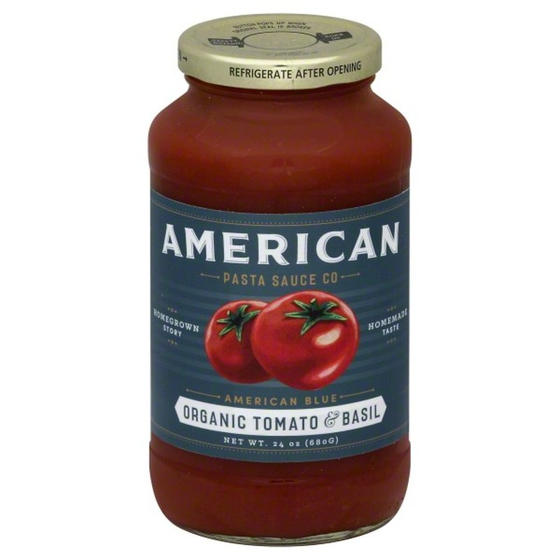 American Pasta Sauce Organic Tomato & Basil