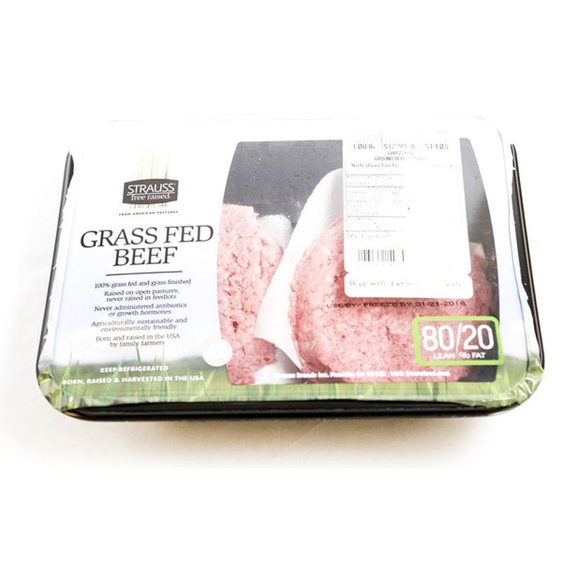 strauss Grass Fed Beef Patties