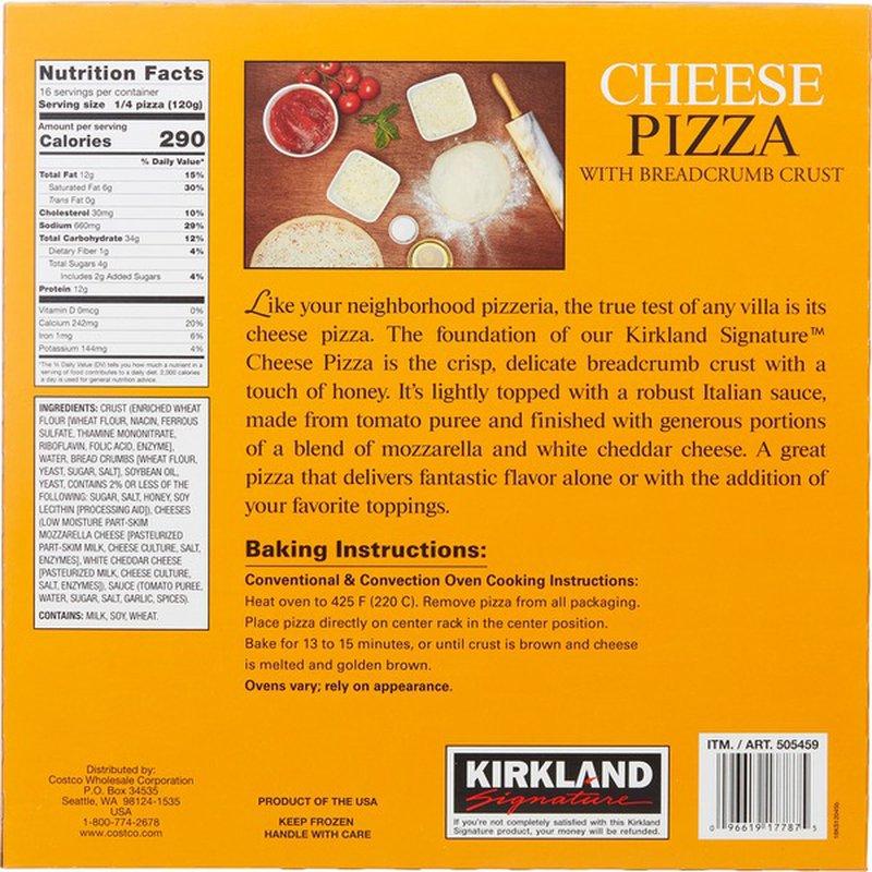Kirkland Signature Cheese Pizza 4 X 16 95 Oz 16 95 Oz Instacart
