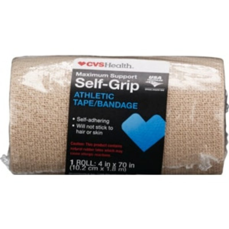 Cvs Health Maximum Support Self Grip Athletic Tape Bandage 4 In X