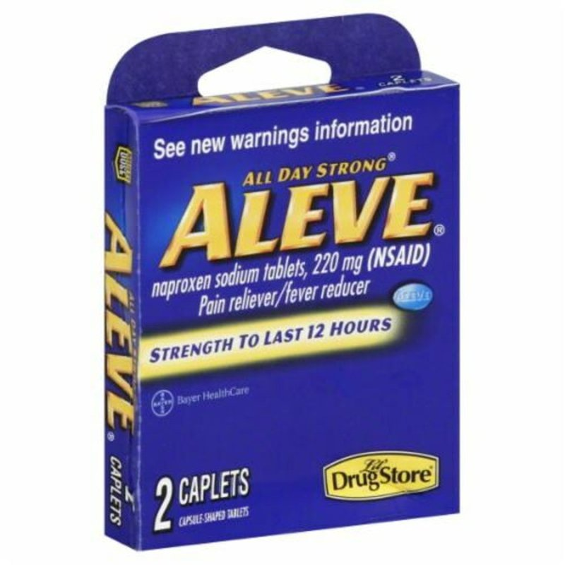 Lil Drug Store Pain Reliever/Fever Reducer (NSAID), 200 mg, All Day Strong, Aleve, Caplets