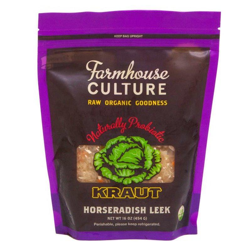 Farmhouse Culture Organic Horseradish Leek Kraut