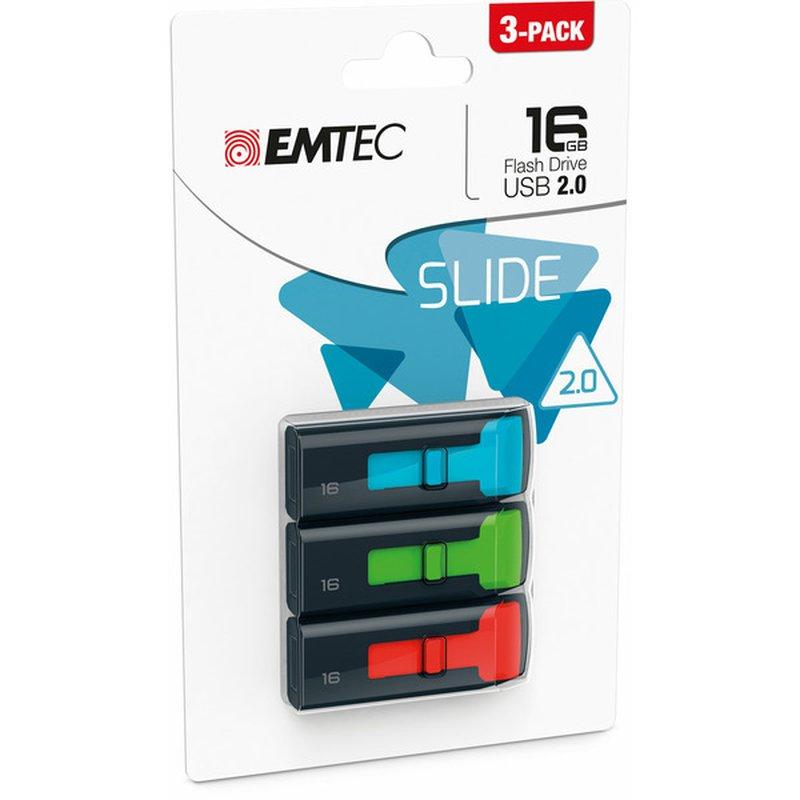 Emtec 16 GB Slide Flash Drive