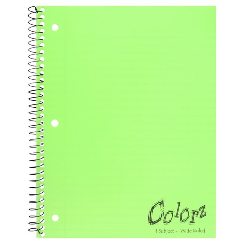 Norcom Notebook, 1 Subject, Wide Ruled, 90 Sheets