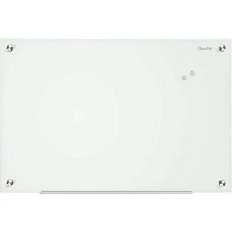 "Quartet Infinity Magnetic Glass Marker Board - 36"" x 24"" - White"