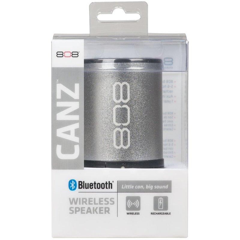 808 Canz Silver Wireless Bluetooth Speaker