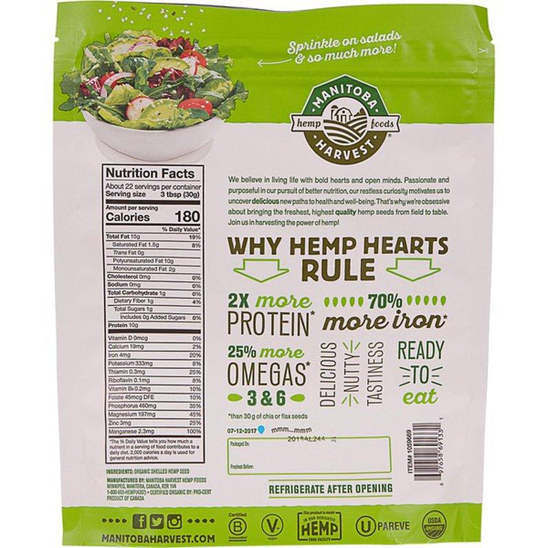 Manitoba Harvest Organic Hemp Hearts, 24 oz