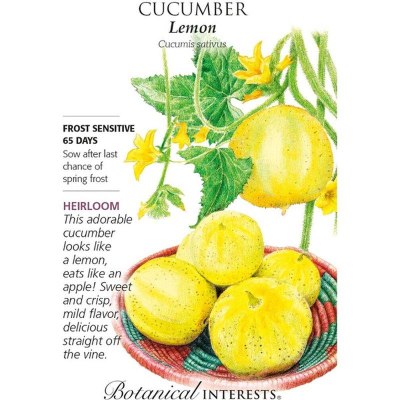 Botanical Interests Lemon Cucumber Seeds